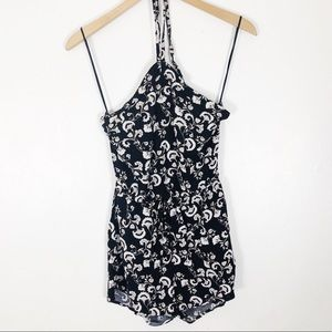 Other - Floral Black and white romper